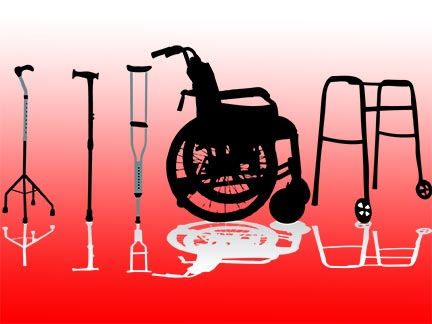 Baton Rouge injury victims might be forced to use wheelchairs, crutches, and mobility aids like these after being invovled in an accident. Contact a Louisiana personal injury in the Greater Baton Rouge area today to represent  you.