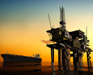 This image depicts an oil rig like one of the many rigs along the Gulf Coast of Louisiana, Florida, Alabama, Mississippi, and Texas. Unfortunately, many oil rig workers are injured or killed every year. Contact a Baton Rouge Personal Injury Lawyer or Baton Rouge Wrongful Death Lawyer today to discuss your rights.